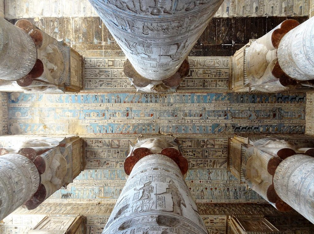 Ceiling of Temple of Hathor at Dendera Temple Complex