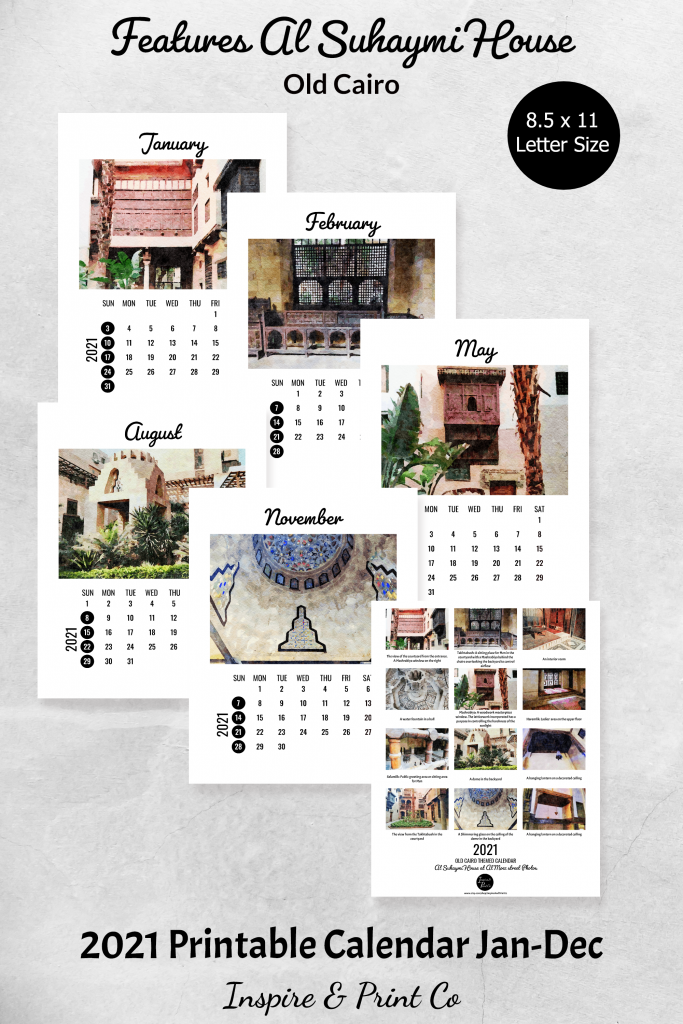 Egypt Travel Art Calendar